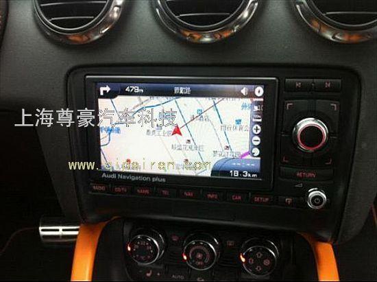奥迪tt原车屏升级导航 加装倒车影像