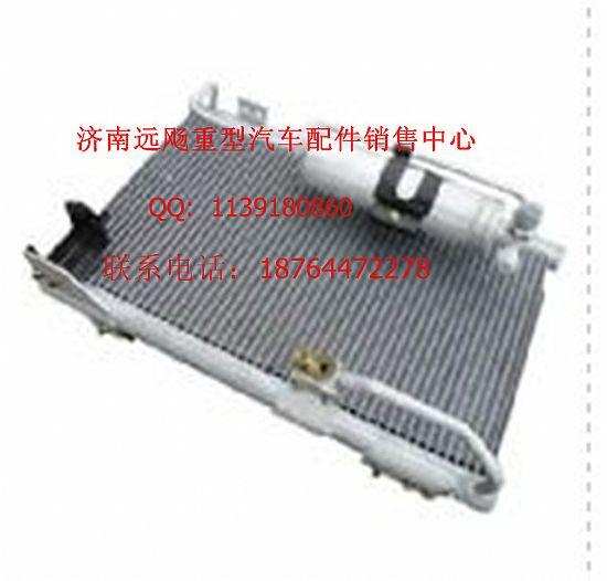 福田欧曼冷凝器带电子 扇 总成 欧曼汽车原厂装高清图片