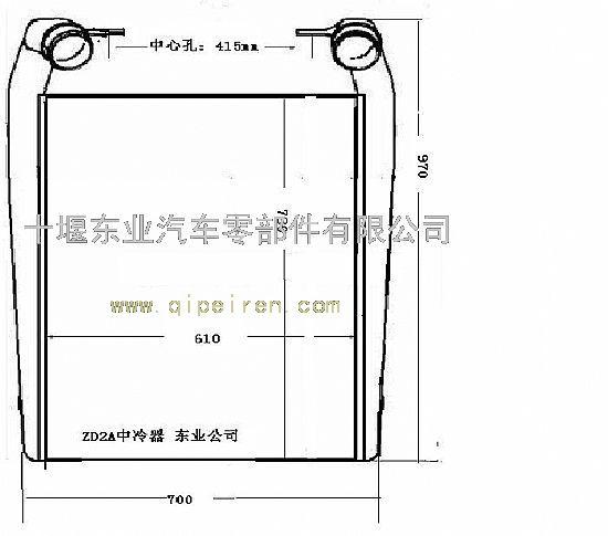 东风天龙雷诺400马力发动机中冷器安装图纸