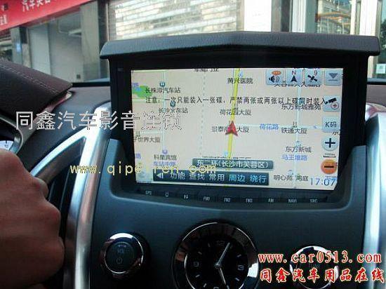 凯迪拉克srx加装触摸手写导航|蓝牙|倒车影像