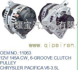 供应11063克莱斯勒Pacifica发电机V6 3.5L充电机11063