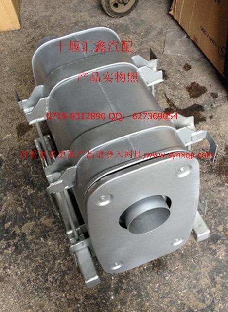 东风天龙l375发动机排气1201910-t38a0 消声器及安装合件1201910