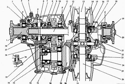 圆锥机分解维修图解