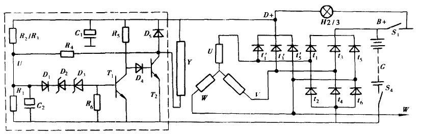 发电机电路原理图