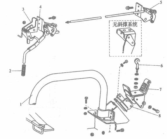 前翻转平头驾驶室的后支座结构是什么?